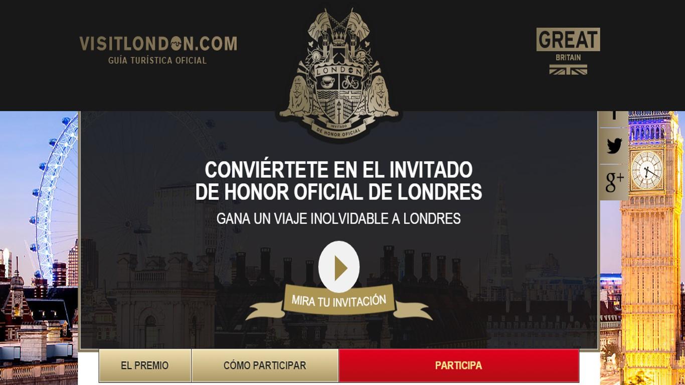 Site concurso Invitado de Honor de Londres en Visit London