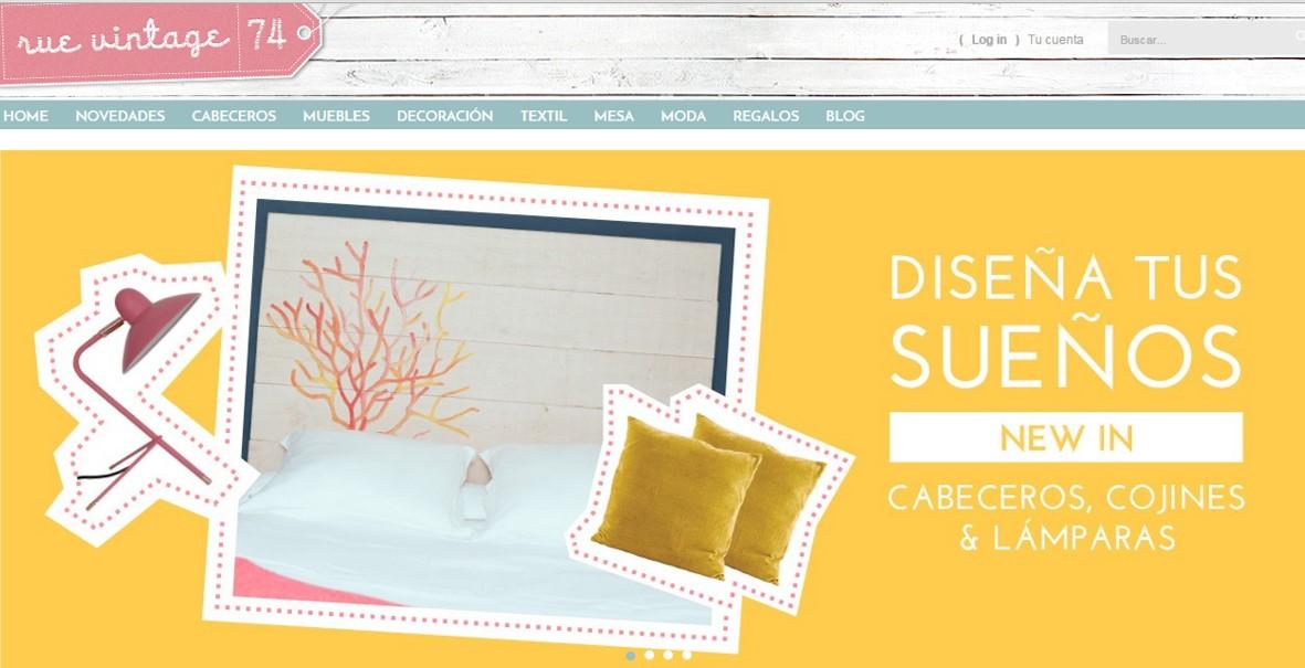Rue Vintage 74 tienda online de decoración y moda