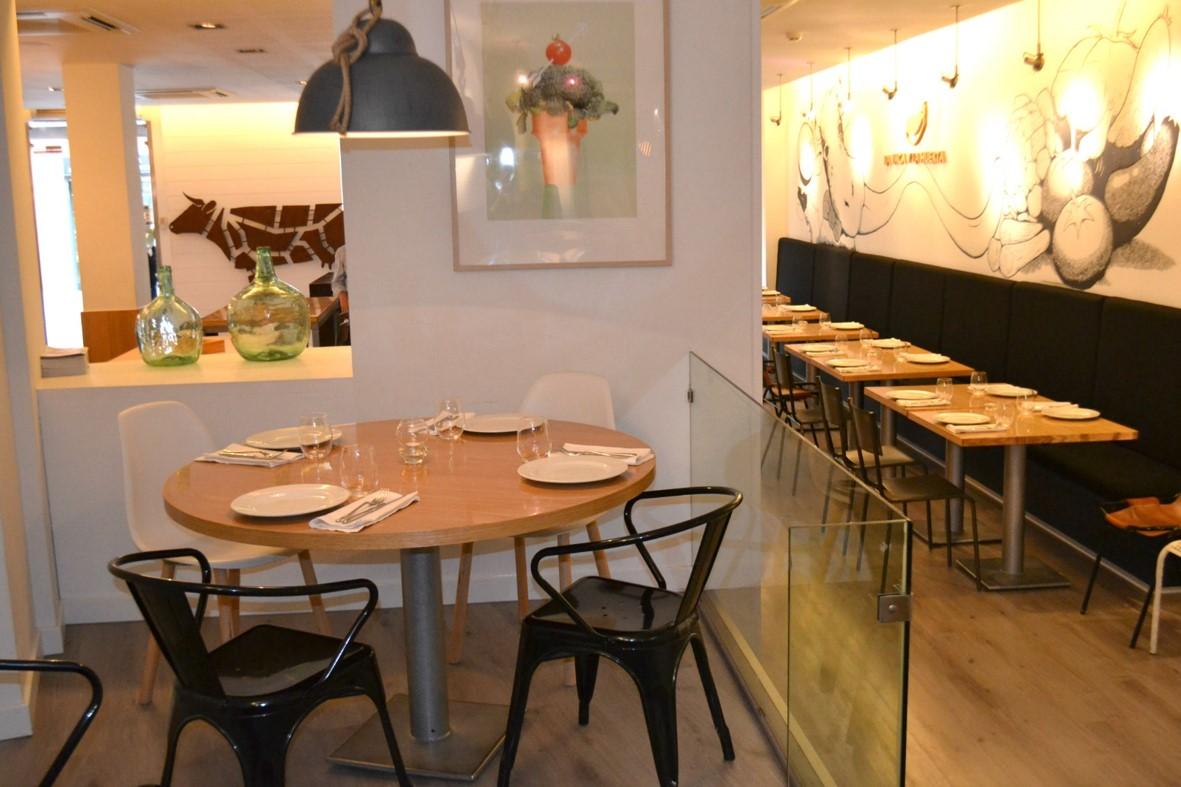 La Vaca y la Huerta restaurante en Madrid carta asequible con la mejor materia prima