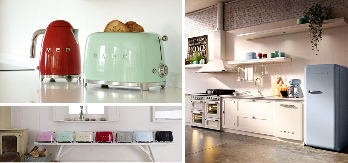 Electrodomésticos Smeg diseño italiano en la línea años 50