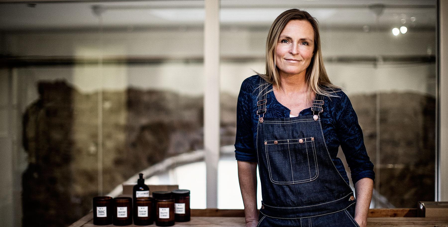 Monica Kylen Creadora de L.A Bruket, cosmética sueca natural, artesana y unisex