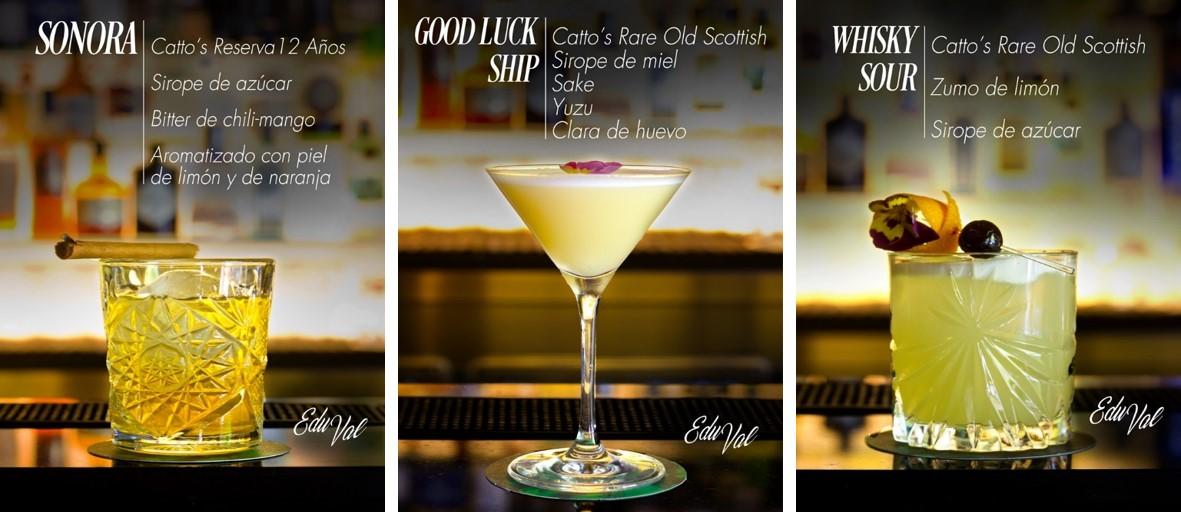 Cocteles nuevo whisky Cattos