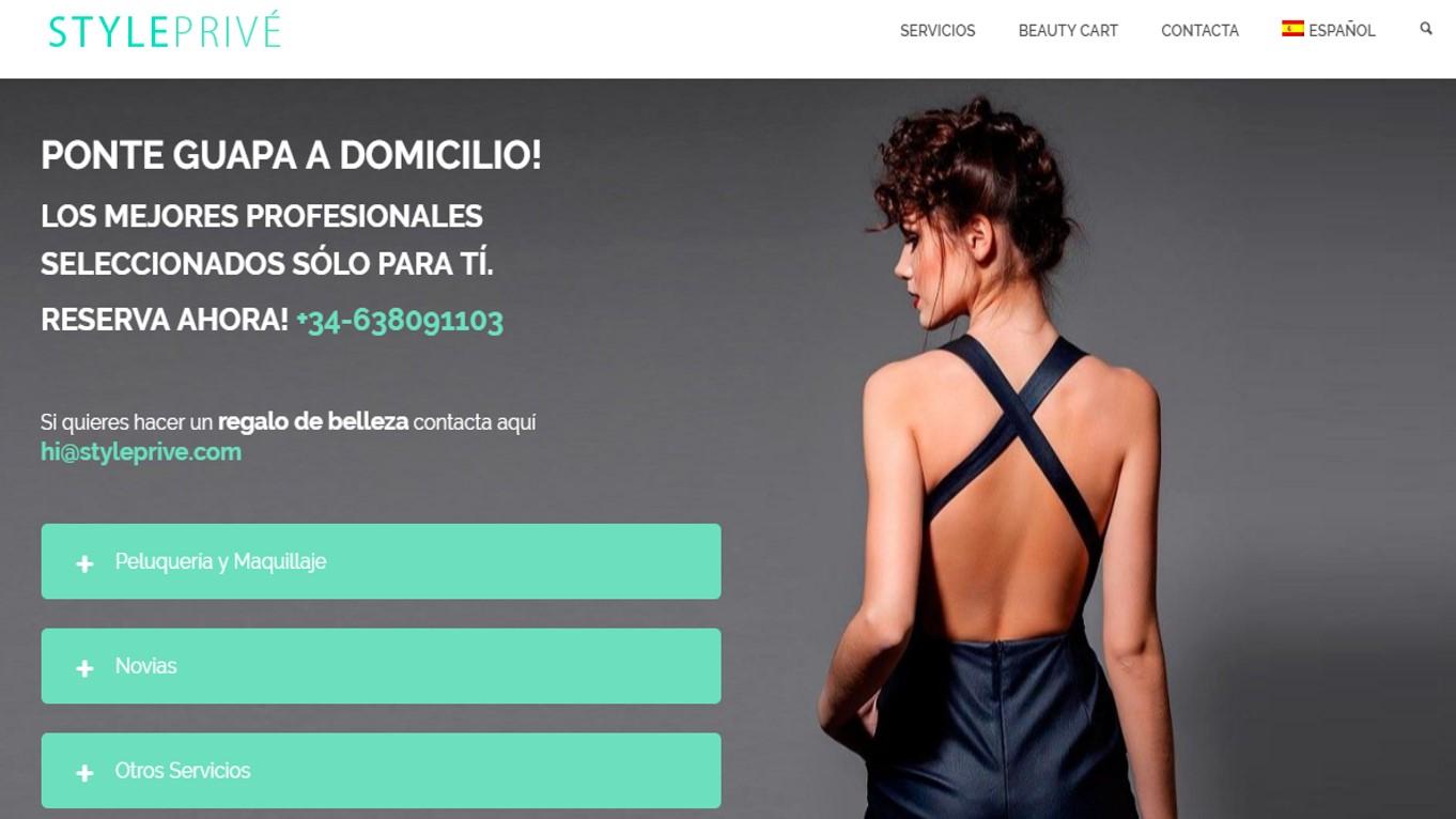 Style Prive, plataforma de servicios de belleza a domicilio