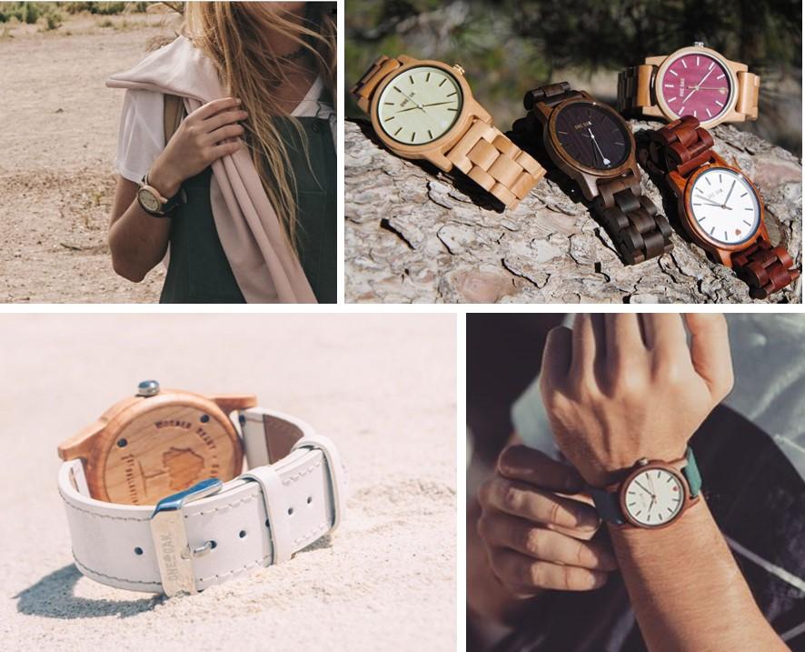 Relojes de madera One Oak, moda sostenible, artesana