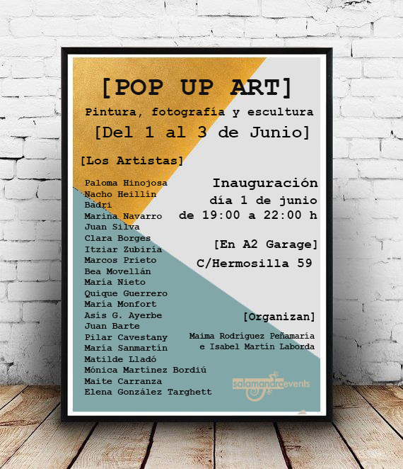 POP UP ART madrid venta especial de arte